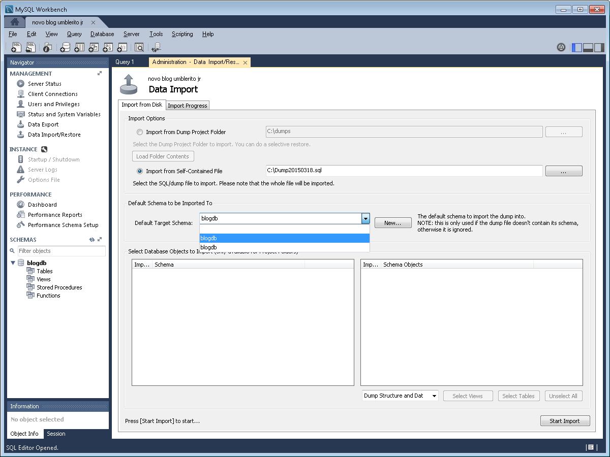 MySQL: Importing/Exporting a database – Umbler Help Center